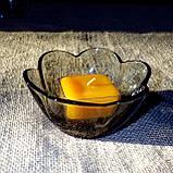Квадратная прозрачная восковая чайная свеча для аромаламп и лампадок; натуральный пчелиный воск, фото 4