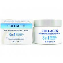 Крем для лица увлажняющий с отбеливающим эффектом 3в1 Enough Collagen Whitening Moisture Cream 3 in 1