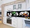 Наклейка на кухонный фартук орхидеи и кофе, с защитной ламинацией, 60 х 200 см., фото 4
