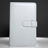 Альбом для фотографий Instax Mini камеры серый с принтом, 96 фотографий, 19х12
