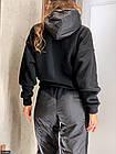 Спортивний костюм плащівка фліс чорний Осінь Україна 46-50 великого розміру 830899, фото 2