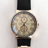 Часы наручные Ulysse Nardin Brown ремешок коричневый (реплика). Цвет: коричневый ремень, светлый циф.