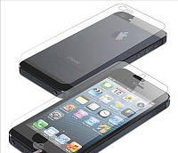 Защитное стекло на телефон iPhone 5, 5G, 5S 2in1