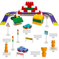 """Детский конструктор """"Орион"""" №4 (90 дет.) Colorplast. Яркий конструктор с крупными блоками для детей от 3 лет"""