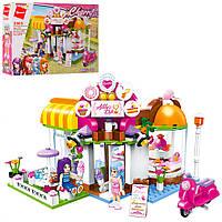 Конструктор для детей Игровая зона для друзей Qman 277 дет. и мини фигурки. Подарок для девочек от 6 лет