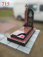 Памятник гранитный комбинированый с крестом, фото 1