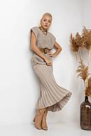 Комплект жилет и юбка-плиссе
