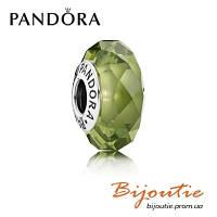Шарм Pandora ОЛИВКОВЫЙ ОГРАНЕННЫЙ КРИСТАЛЛ 791729NLG серебро 925 хрусталь Пандора оригинал