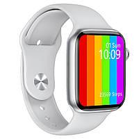 Умные часы w46 smart watch с термометром, пульсометр, тонометром, ЭКГ белый 42 / 44mm