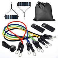 Эспандер-резинки для фитнеса Resistance Bands, 5 фитнес жгутов, многофункциональный набор для фитнеса
