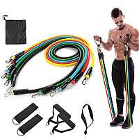 Набор Экспандер-резинки для фитнеса Resistance Bands, многофункциональный набор для фитнеса