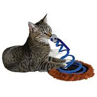 """Trixie  TX-4568 Игрушка для кошки """"Мышь на пружине"""", ф 20 х 25 см"""
