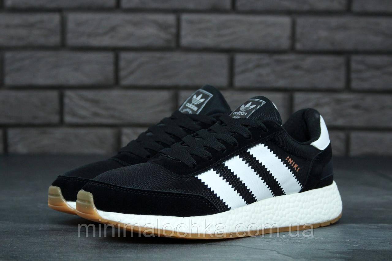 Мужские черно-белые кроссовки Adidas Iniki