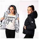 Двухсторонняя демисезонная куртка на девочку Адель бренда Nestta Размеры 146- 164, фото 6