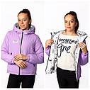 Двухсторонняя демисезонная куртка на девочку Адель бренда Nestta Размеры 146- 164, фото 8