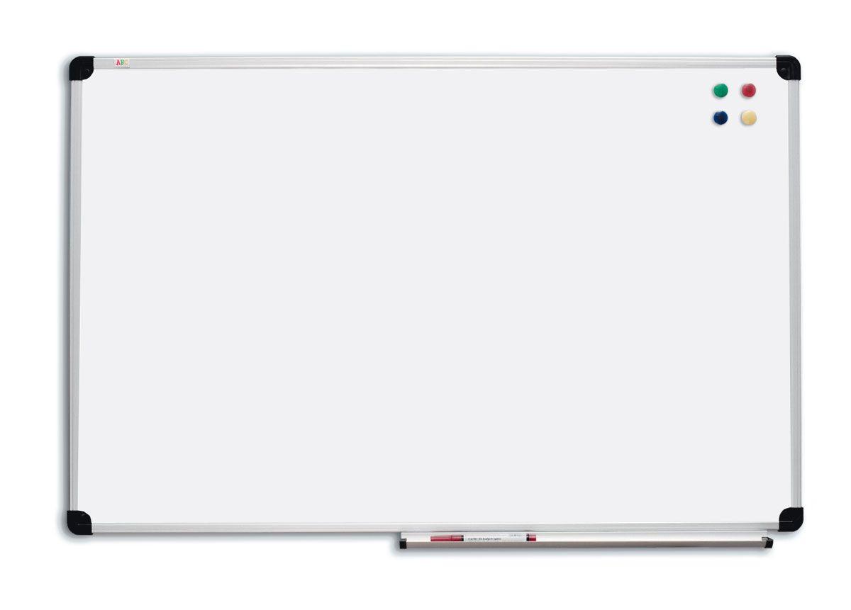 Доска магнитно-маркерная 90х50 см сухостираемая в алюминиевой рамке