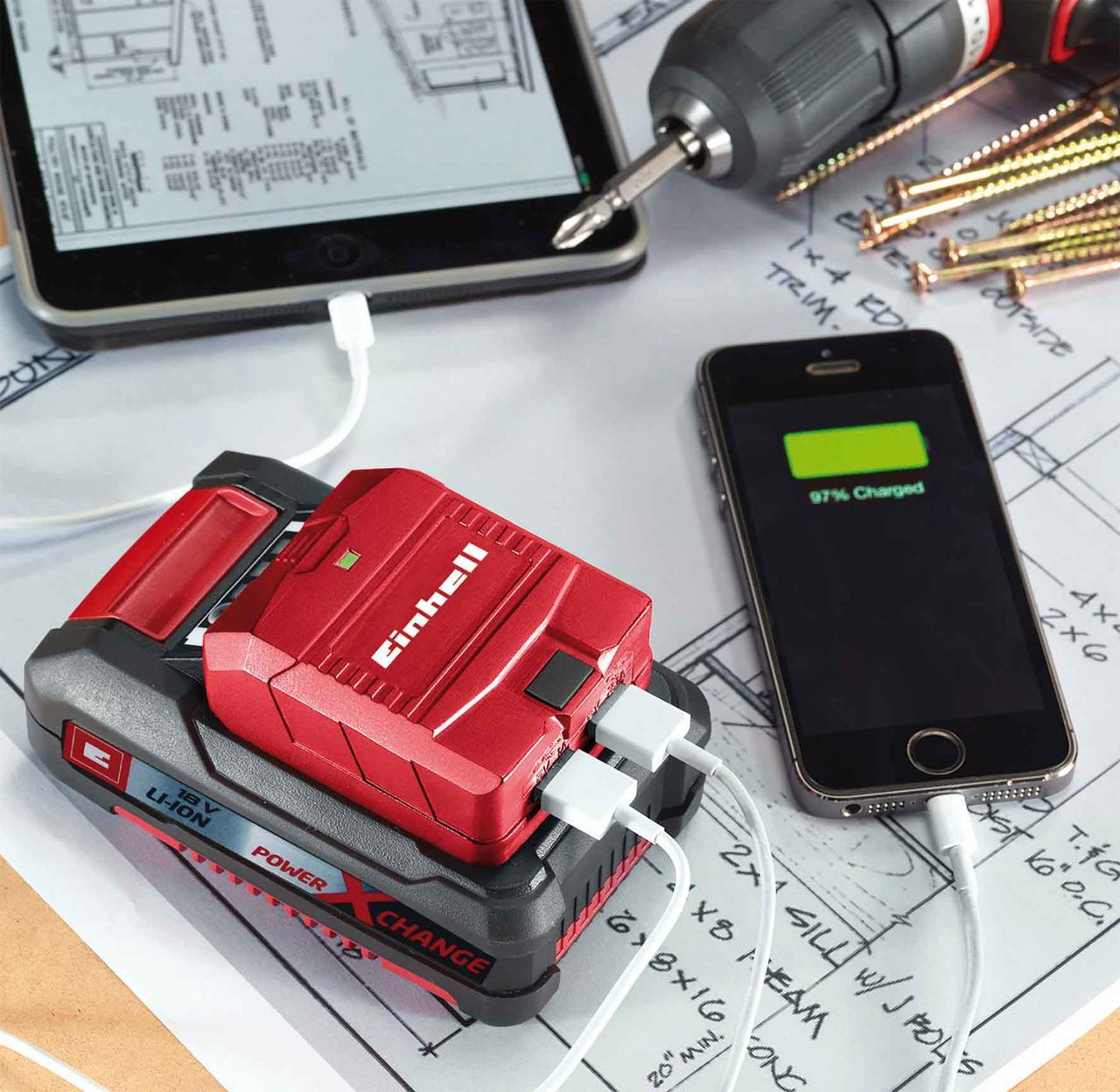 USB-розгалужувач акумуляторний Einhell Expert Plus TE-CP 18 Li USB-Solo
