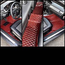 Комплект ковриков из экокожи для Bmw 5-series F10, от 2012 года, фото 2