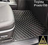 Килимки Toyota Land Cruiser 200 з Екошкіри 3D (2008+), фото 9