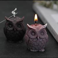 """Свеча ручной работы """"Сова""""   Декоративная свеча из парафина в форме совы"""
