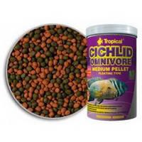 Tropical Cichlid Omnivore Medium Pellet 1л/360г -  корм для кормления аквариумных рыб