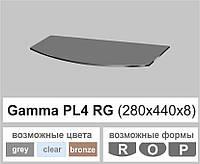 Стеклянная полка радиусная Commus PL4 RG (280х440х8мм), фото 1