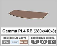 Стеклянная полка радиусная Commus PL4 RB (280х440х8мм), фото 1