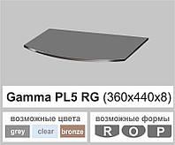 Стеклянная полка радиусная Commus PL5 RG (280х440х8мм), фото 1