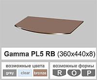 Стеклянная полка радиусная Commus PL5 RB (360х440х8мм), фото 1