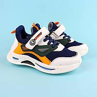 Кроссовки для мальчика бело-синие тм Том.М размер 27,29