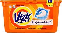 Капсулы для стирки  Vizir 3in1 PODS, Альпийская свежесть 39шт