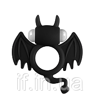 """Ерекційне кільце на пеніс з вібрацією """"Бетмен"""" (16222)"""