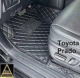 Авто Коврики Toyota Prado 120 с Багажником Кожаные 3D (2002-2009) Тойота Прадо 120 Тюнинг, фото 6
