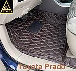 Авто Коврики Toyota Prado 120 с Багажником Кожаные 3D (2002-2009) Тойота Прадо 120 Тюнинг, фото 8