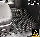 Авто Коврики Toyota Prado 120 с Багажником Кожаные 3D (2002-2009) Тойота Прадо 120 Тюнинг, фото 7