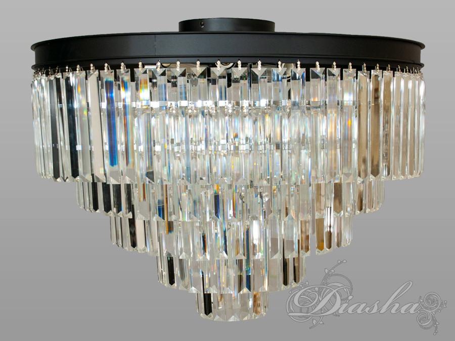 Современная потолочная хрустальная люстра на 8 ламп X1026-600BK