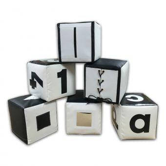 Набор кубиков черно-белый TIA-SPORT, фото 2