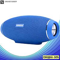 Портативная колонка Hopestar H20 31W - мощная акустическая стерео блютуз колонка Синяя