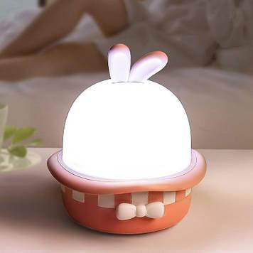Проектор-ночник Волшебный кролик звездное небо Розовый