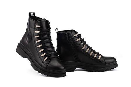 Женские ботинки кожаные зимние черные Carlo Pachini 4-1498/20-15, фото 2
