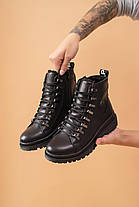 Женские ботинки кожаные зимние черные Carlo Pachini 4-1498/20-15, фото 3
