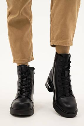 Женские ботинки кожаные зимние черные Vladeks 1387, фото 2
