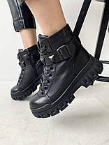 Женские ботинки кожаные зимние черные Carlo Pachini 4647/21-11, фото 2