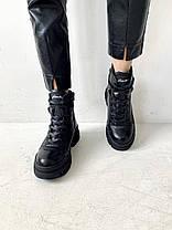 Женские ботинки кожаные зимние черные Carlo Pachini 4647/21-11, фото 3