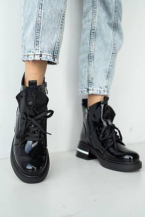 Женские ботинки кожаные зимние черные-лак Vladeks 1379-2, фото 2