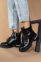 Женские ботинки кожаные зимние черные-лак Vladeks 1379-2, фото 3