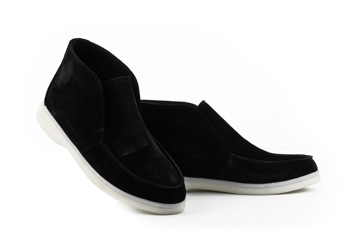 Женские ботинки замшевые весна/осень черные Mkrafvt Casual 1150 Байка