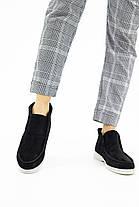 Женские ботинки замшевые весна/осень черные Mkrafvt Casual 1150 Байка, фото 2