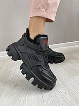 Женские ботинки кожаные зимние черные Road-style БС-121 01К, фото 3