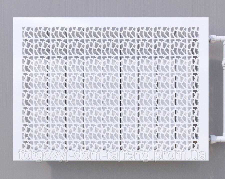 Декоративная решетка на батарею SMARTWOOD | Экран для радиатора | Накладка на батарею 600*300